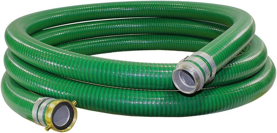 Green Trash Pump Hose Suction Pump Water Hose with Pump Threads 3 x 15