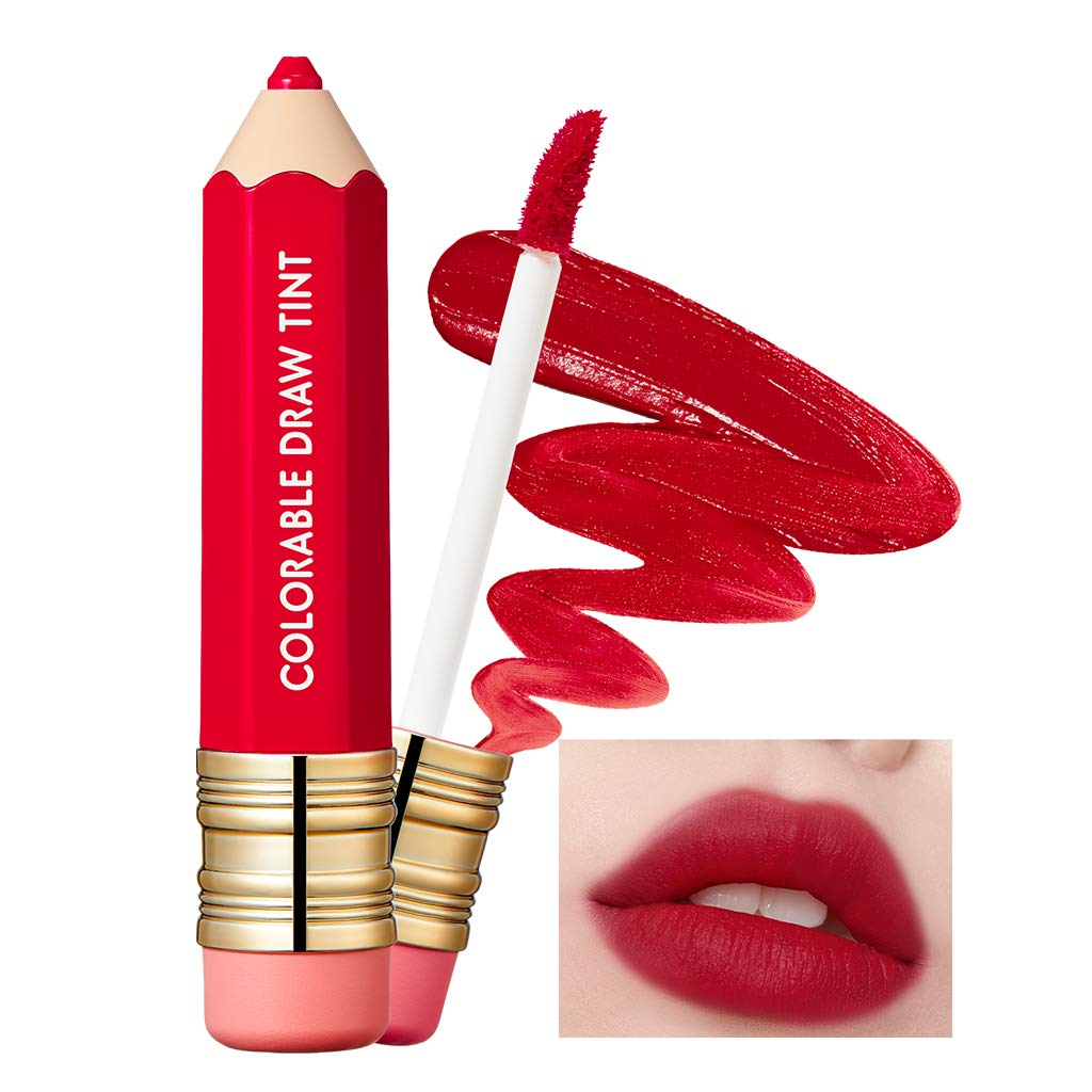 It'S SKIN Colorable Draw Tint 3.3g 10 Colors - Cute Crayon Velvety Lip Tint Lipstick with Matte Finish, Air Light Formula with Long Lasting Intense and Vibrant Color (09 Big Red)