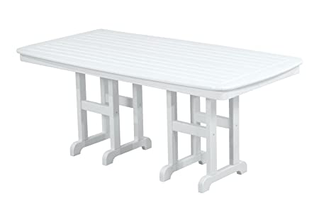 POLYWOOD NCT3772WH Nautical Dining Table, 37 by 72-Inch, White Discontinued by Manufacturer
