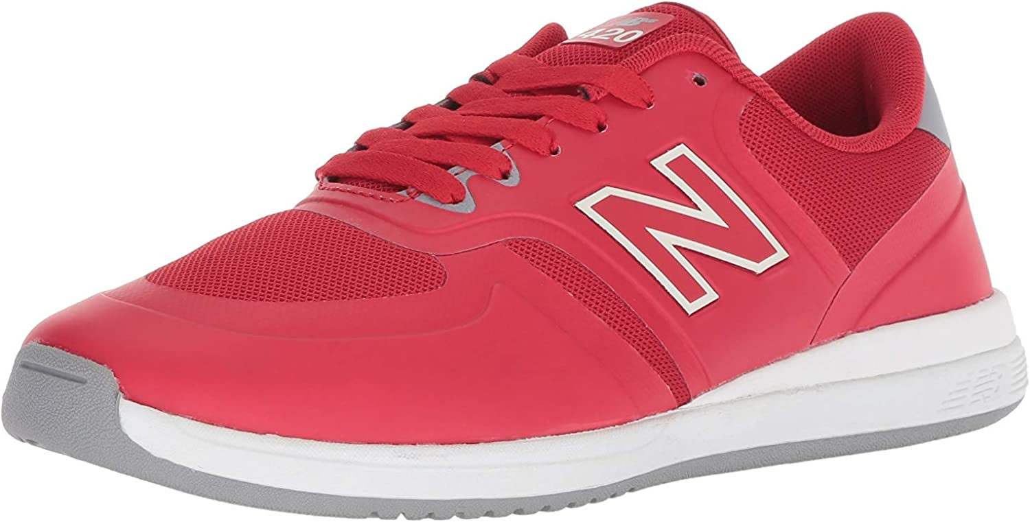 New Boys New Balance Maroon 420 Synthetic Trainers Retro Lace Up
