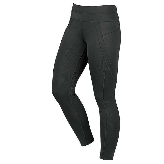 eea55e3f6 Dublin Performance Active Womens Riding Tights - Black  Amazon.co.uk   Clothing