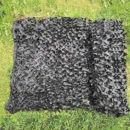 黒カモフラージュネット 偽装網 迷彩柄ネット野外活動 日よけ 風通し野鳥撮影 狩猟用