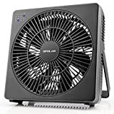 OPOLAR 8 Inch Desk Fan, USB Operated, 4 Speeds+Natural Wind, Timer, Quiet Operation, Personal Table Fan, Seven Blades, Adjustable Angle, Desktop Cooling Fan for Office, Room, Bedroom(Included Adapter)