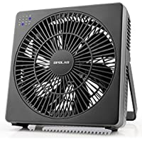 OPOLAR 8 Inch Desk Fan, USB Operated, 4 Speeds+Natural Wind, Timer, Quiet Operation, Seven Blades, Adjustable Angel, Desktop Personal Cooling Fan for Office, Living Room, Bedroom (Included Adapter)