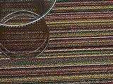 Chilewich Skinny Stripe Runner, 24 by 72-Inch, Bright Multi
