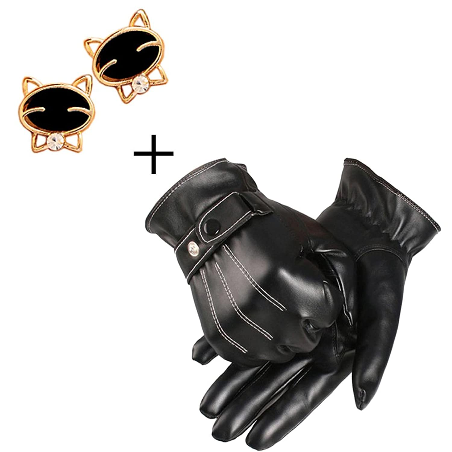 Buy leather gloves perth - Coromose Mens Leather Winter Super Driving Warm Gloves At Amazon Men S Clothing Store