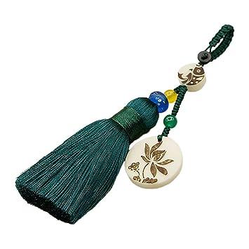 Dosige 1 Pieza Llavero Lotus Tassel Lotus Bellota Llave de ...