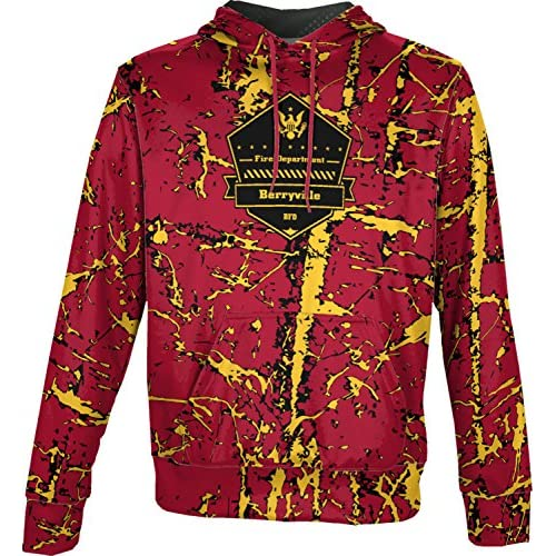cheap ProSphere Boys' Berryville Fire Department Distressed Hoodie Sweatshirt (Apparel) hot sale