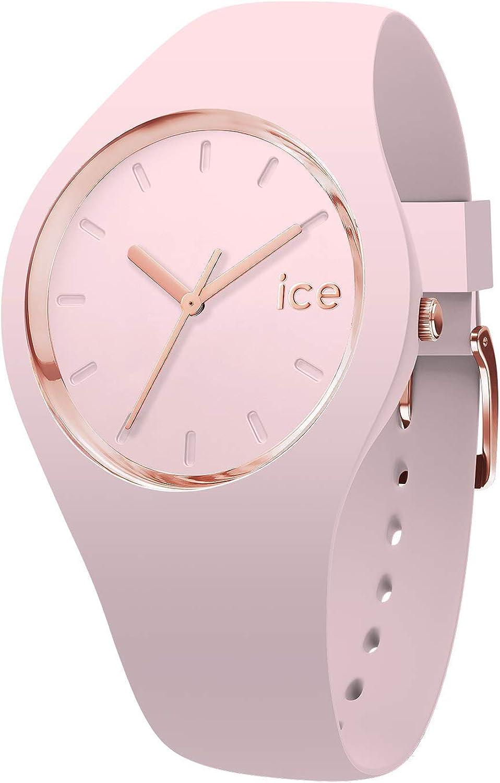 Ice-Watch - Ice Glam Pastel Pink Lady - Reloj Rosa para Mujer con Correa de Silicone