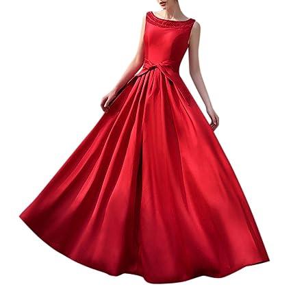 03681b514 Vestido largo sin mangas, vestido largo elegante del color sólido para las  mujeres, vestido