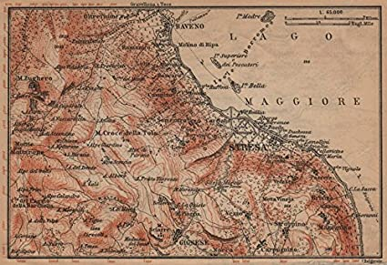 Amazon Com Stresa Environs Baveno Gignese Italy Mappa Baedeker