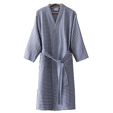 Traje de algodón de Punto para Hombre Kimono japonés Pijama ...