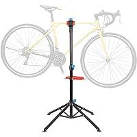 FEMOR Fietsmontagestandaard met gereedschapsrek, fiets, reparatiestandaard in hoogte verstelbaar en inklapbaar…