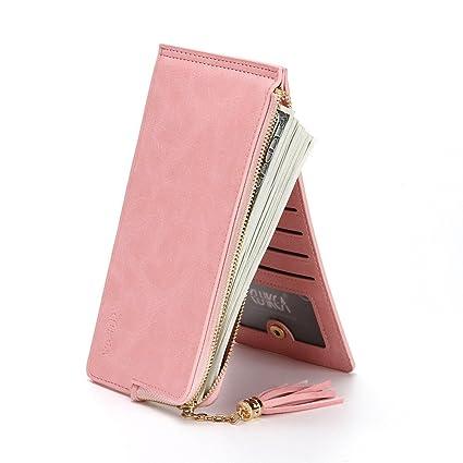 Monedero Multifuncional Lady Leather Credit Card Holde Wallet Travel Mini Carteras/Titular / Bolso Regalo