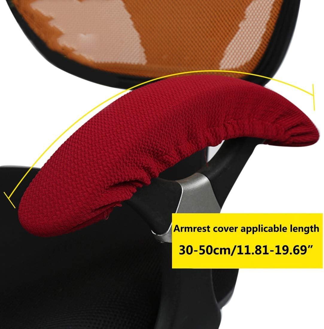 Enerhu Stretch Armrest Cover Computer//Office//Rotating Chair Armrest Slipcover Pure Color Khaki
