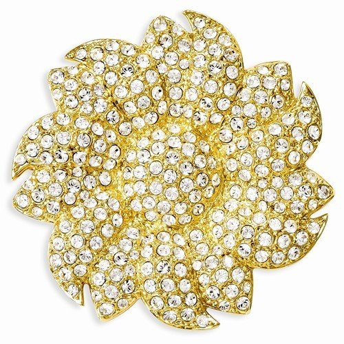 Inspired Silver Jacqueline Kennedy Collection 24k Gold Plated Crystal Swarovski Sunflower - Kennedy Collection Jacqueline