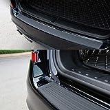 MOGOI Car Rear Bumper Protector Guard, Universal Black Rubber Scratch-Resistant Trunk Door Entry Guards Accessory Trim Cover Bumper Guards For SUV/Cars