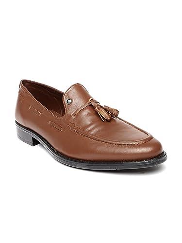 INVICTUS Men Brown Leather Semiformal Shoes (9UK)