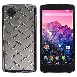 Be Good Phone Accessory // Dura Cáscara cubierta Protectora Caso Carcasa Funda de Protección para LG Google Nexus 5 D820 D821 // Metal nail texture