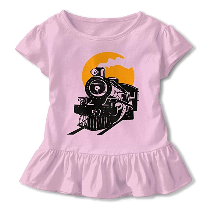 893ba2d301b7 Amazon.com  Toddler Baby Girl Steam Train 100% Cotton T Shirts Short ...