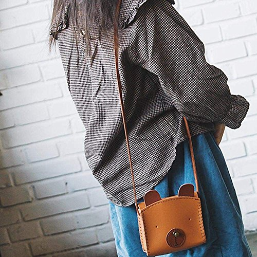 Girl TOOGOO Women Brown Messenger PU Money Bank Mini Bag Cartoon Messenger Cute Kid Y5qwrY