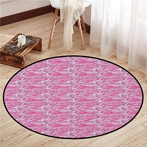 Bedroom Rugs,Zebra Print,Striped Zebra Animal Skin Pattern in Vivid Color Fun Stylish Artwork Print,Sofa Coffee Table Mat,2'11