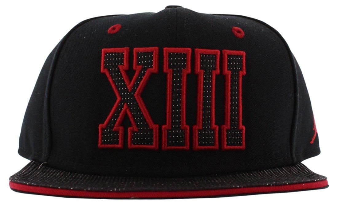 online retailer abd69 e08b9 Nike Air Jordan XIII Retro 13 Jumpman Snapback Cap Black Red 631668-010   Amazon.co.uk  Sports   Outdoors