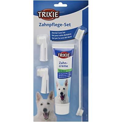 Trixie Set Higiene Dental Perros - Pasta Dental Para Perros  Cepillos De Dientes Limpia Dientes Dentífrico Perros