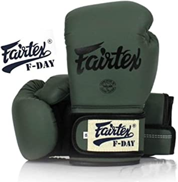 Fairtex Muay Thai Boxing Gloves Limited Edition BGV11 F Day Military GREEN Size