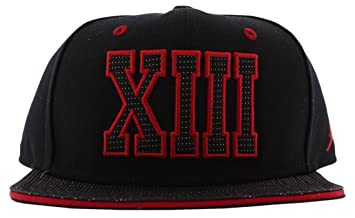 various colors 9f475 732e5 ... real nike air jordan xiii retro 13 jumpman snapback cap black red  631668 010 71a91 9502f