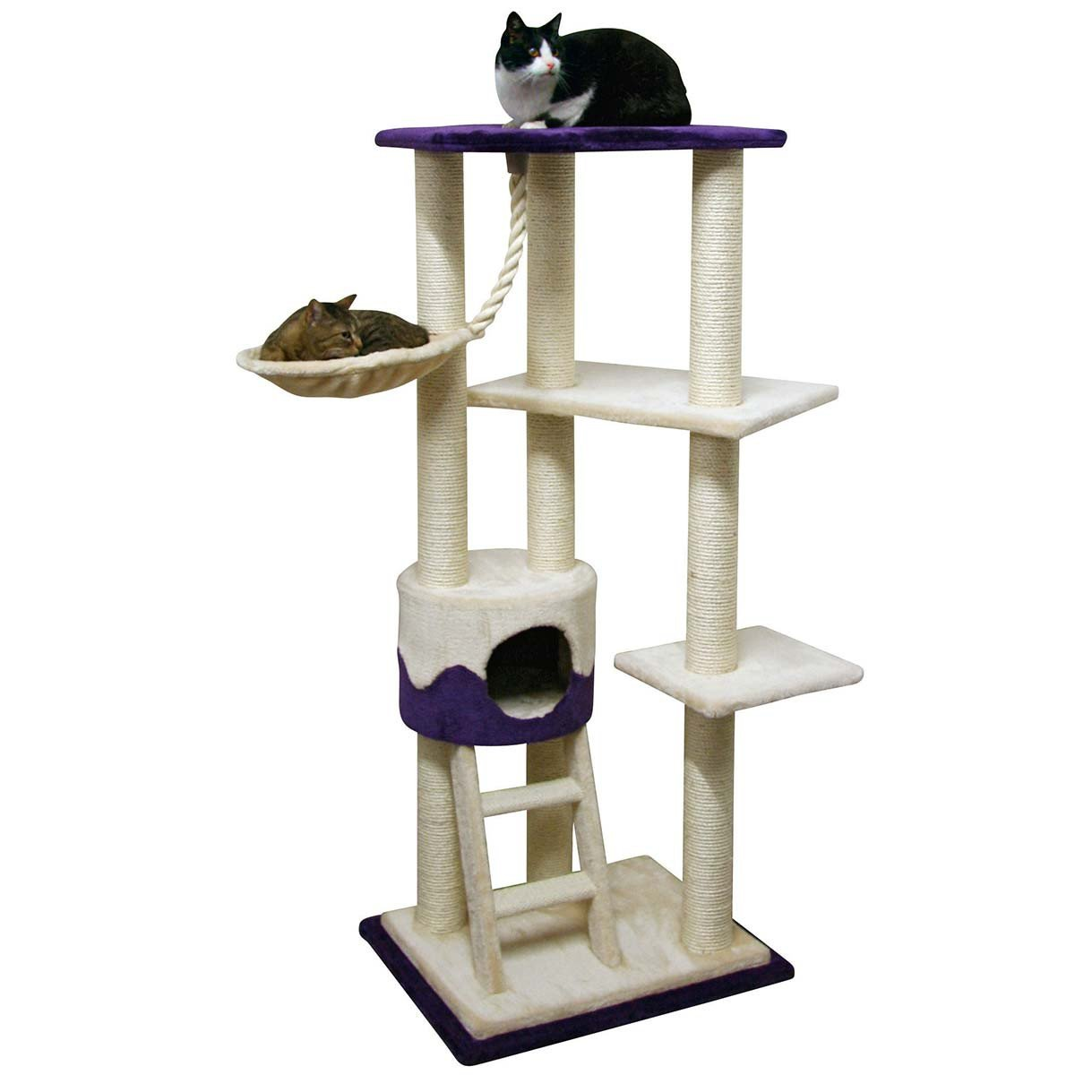 Kerbl Cat Tree Lilly II, Beige  Purple
