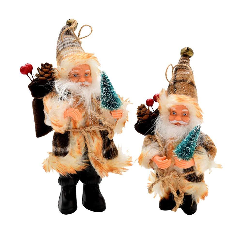 Longra Christmas Tree Decor Candy Bag Ornaments Xmas Decor Santa Claus Party Decor (16cm, Coffee) Longra-Store