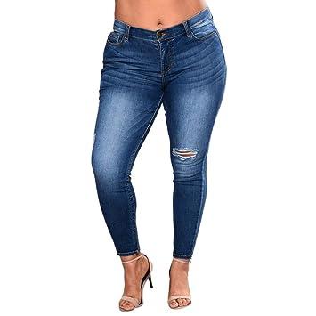 Vaqueros Jeans push up, Vaqueros Para Mujer cintura alta tallas grandes pantalones rotos leggins mujer Pantalones Jeans Mujer Elástico Flacos Skinny ...