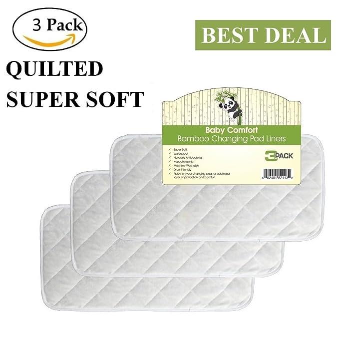 Calidad superior bolsas de cambiador de bambú, alta calidad Tela, impermeable, hipoalergénico, antibacteriano, reutilizable, para lavadora y secadora con, ...