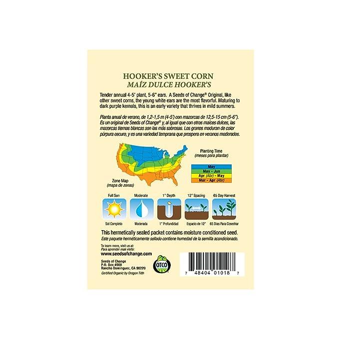 Amazon.com: Semillas de cambio 01018 orgánico certificado ...