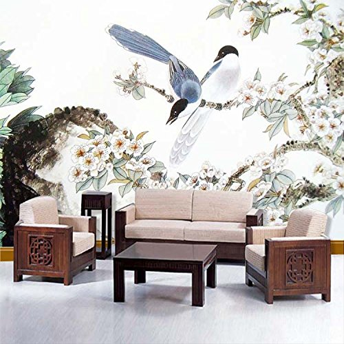 ZLJTYN 370cmX245cm Custom Large Ink Design 3d Wallpaper Chinese Oil Painting Wall Paper Sofa Background Mural ()