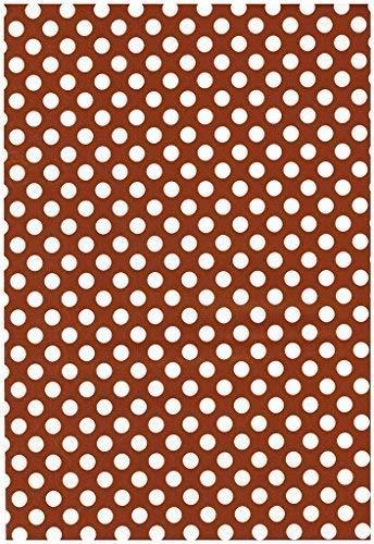 Wachstuch Tischdecke Rollenware Punkte Polka Dots gepunktet gepunktet gepunktet Farbe und Größe wählbar (5 m x 140 cm, M110-2 braun) B01KC2OYN4 Tischdecken b892fc