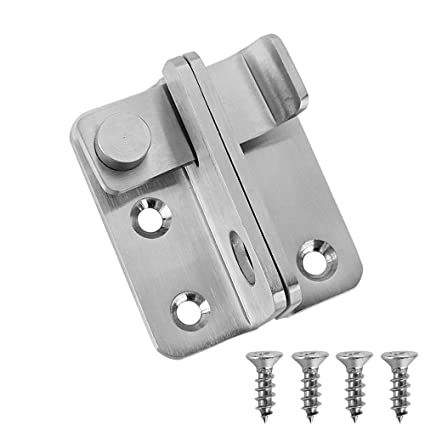 JQK Flip Latch, (Extra Thick 3mm) Stainless Steel Heavy Duty Gate Latcher  Door