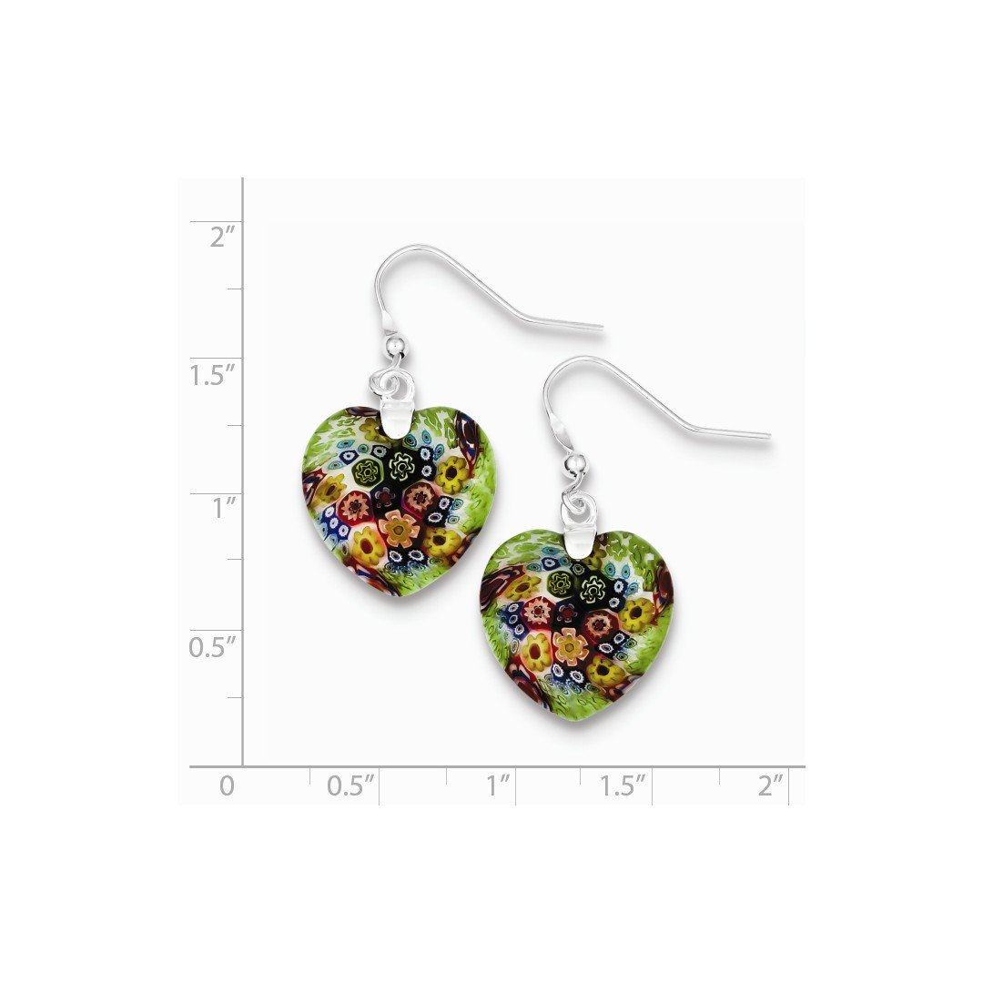 ICE CARATS 925 Sterling Silver Multicolored Glass Heart Drop Dangle Chandelier Earrings Love Fine Jewelry Ideal Gifts For Women Gift Set From Heart by ICE CARATS (Image #3)