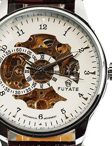 Los hombres de la actividad reloj mecánico reloj de lujo marca reloj de los nuevos hombres del reloj de regalo, color blanco: Amazon.es: Relojes