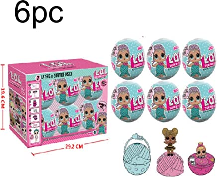 Amazon.es: goodsatar 6 pcs LOL sorpresa muñeca hermanas bola 7 capas serie 1 Sorpresa misterio de Navidad juguete: Juguetes y juegos