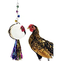 SOWUNO Chicken Toy Drum Funny Long Creative Metal Interactive Hen Playing Toy Parrot Toy Cage Decorations Pecking Coop…