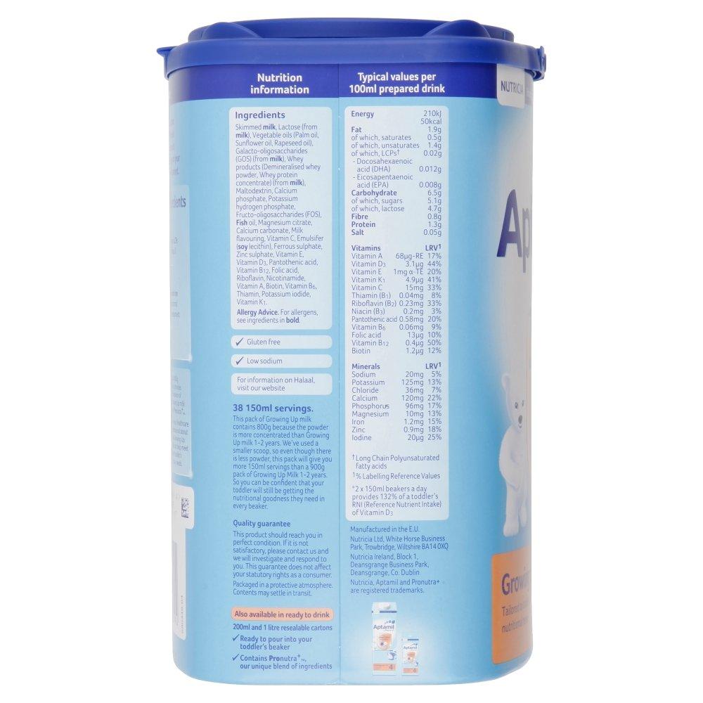 Aptamil Crecer Leche En Polvo Para Bebés 2Yr + (800g) (Paquete de 6): Amazon.es: Alimentación y bebidas