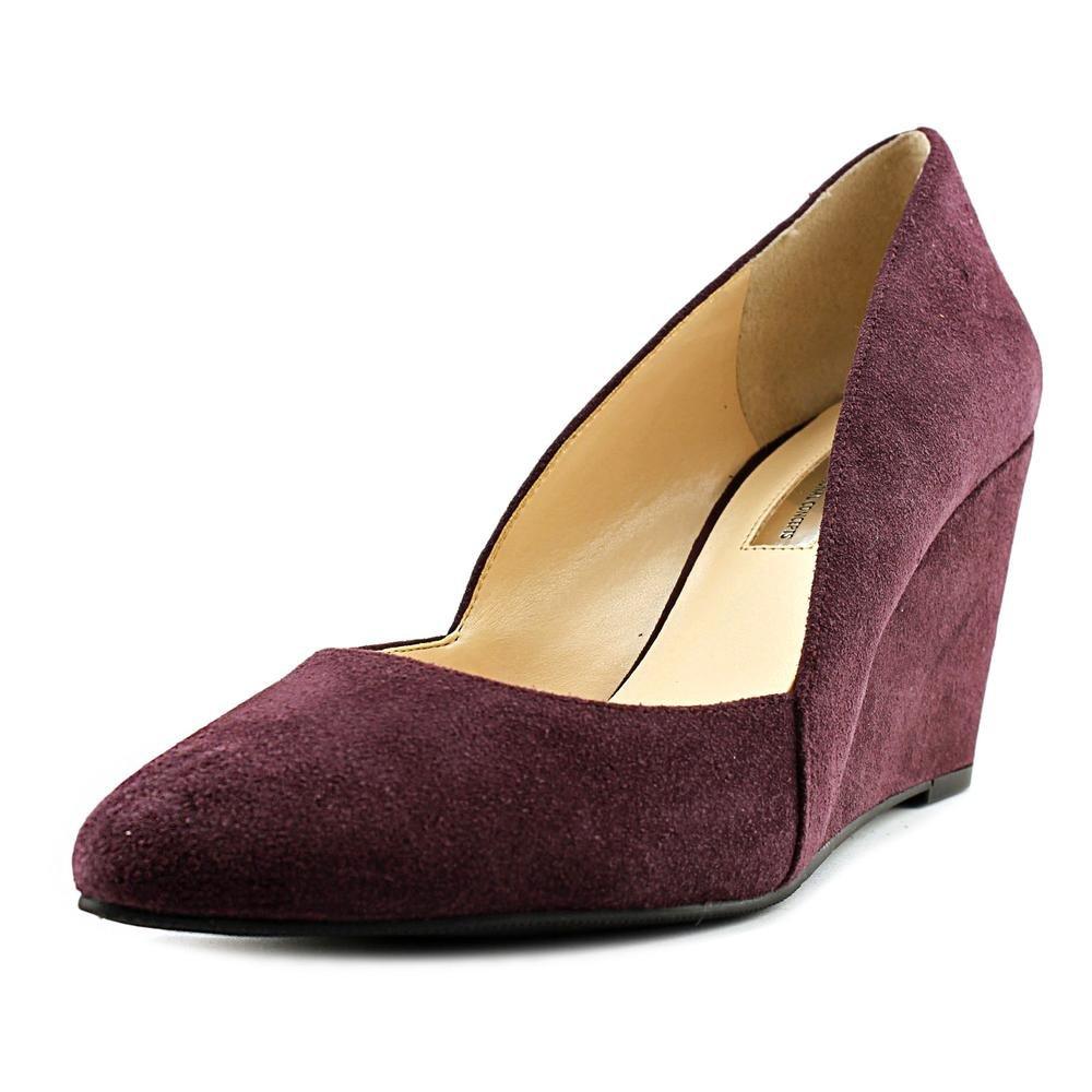 INC International Concepts Womens Zarie Leather Closed Toe Wedge Pumps B01M8G59WP 8 B(M) US|Dark Plum