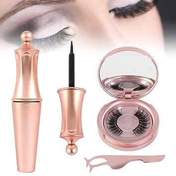 BOTTLEWISE Pestañas Postizas Magneticas Profesional Sin Pegamento Reutilizables Pestañas Falsas con Pinzas Naturales para Extensión Maquillaje ...