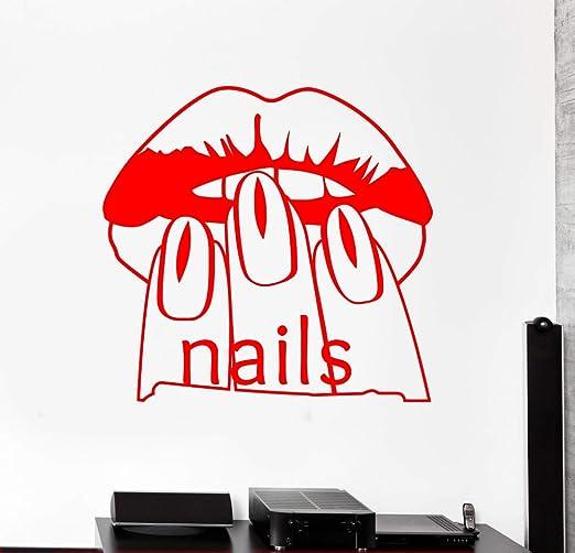 zqyjhkou Salón de uñas Belleza Mujer Pegatinas de Pared Calcomanía ...