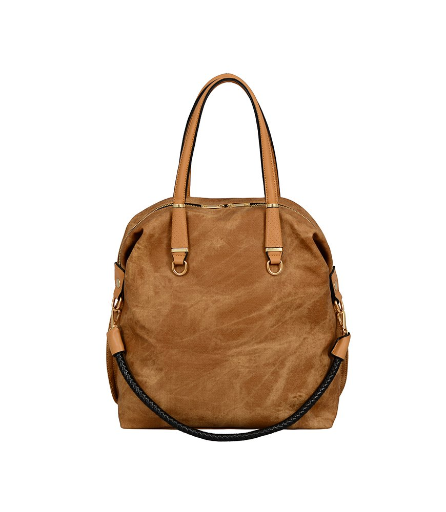 One Size Camel Mellow World Womens Grace Satchel 14 X 6 X 14 Sling Tote
