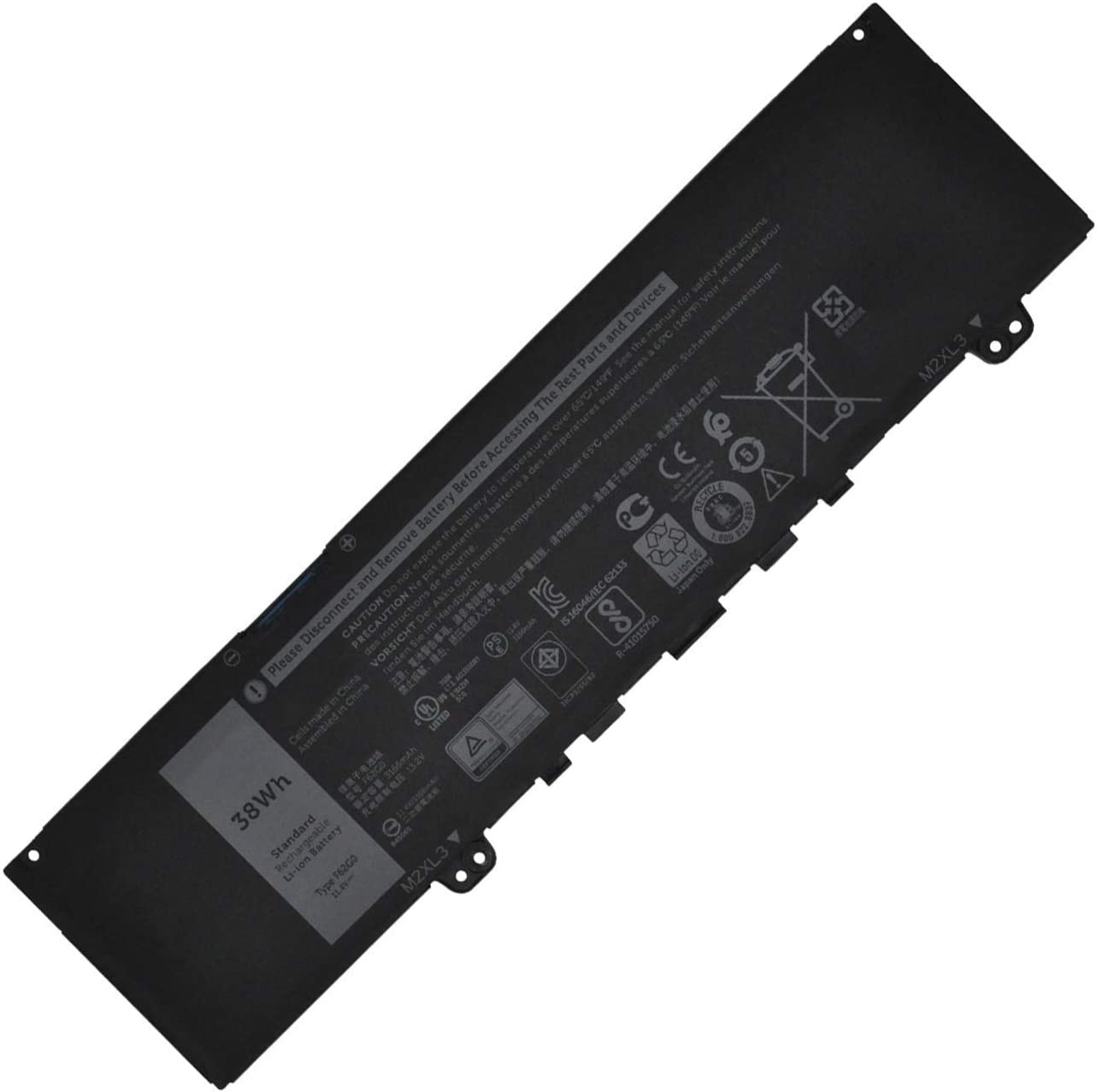 F62G0 Laptop Battery Replacement for Dell Vostro 5370 Inspiron 13 5370 7370 7373 Series CHA01 RPJC3 (11.4V 38Wh)