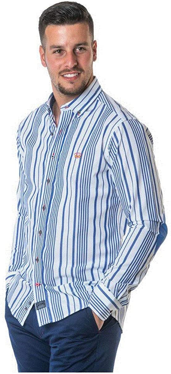 SPAGNOLO PAUL & ESTHER Camisa con Boton Polo Slim Bandera 1768 (S): Amazon.es: Ropa y accesorios