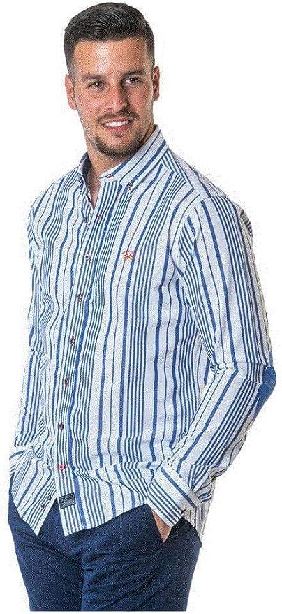 SPAGNOLO PAUL & ESTHER Camisa con Boton Polo Slim Bandera 1768 (S): Amazon.es: Ropa y accesorios